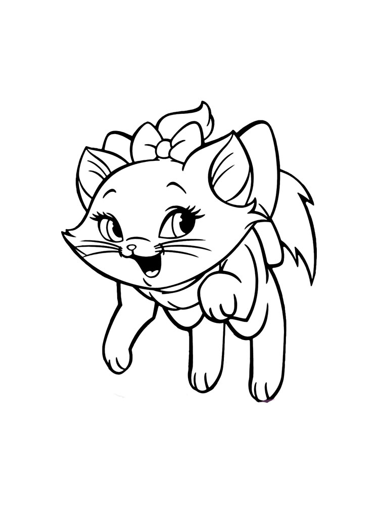 Disney Marie Cat coloring pages. Free Printable Disney ...