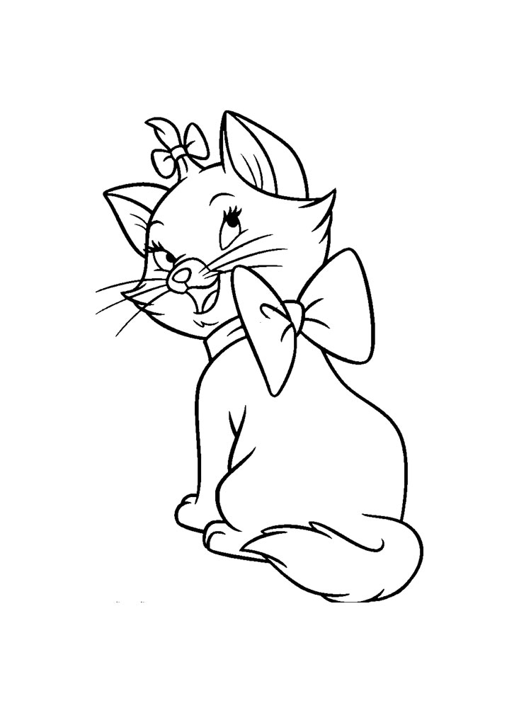 Disney Marie Cat Coloring Pages Free Printable Disney