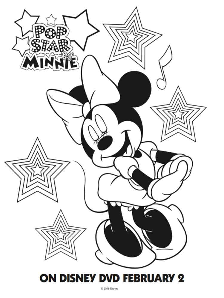 Disney Minnie Mouse Coloring Pages Free Printable Disney