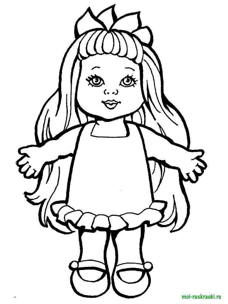 Раскраска распечатать кукла