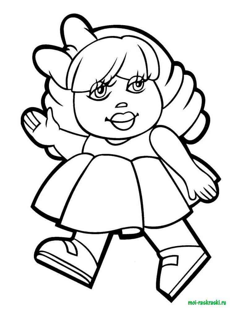 Кукла раскраска распечатать бесплатно 94