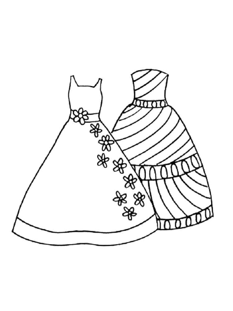 Dress Coloring Pages 16