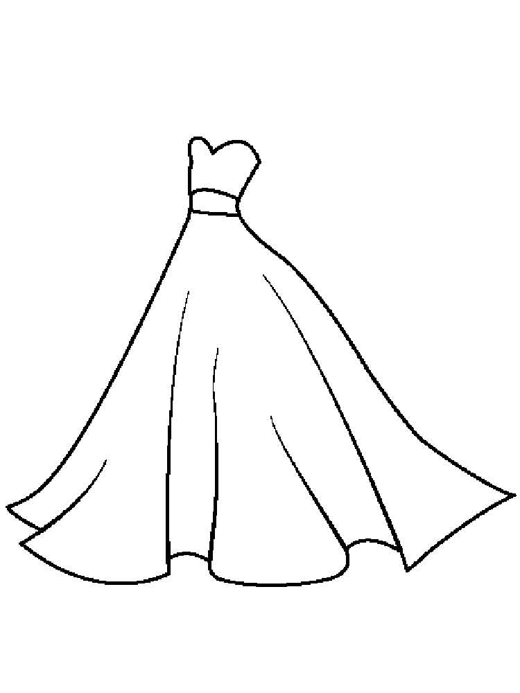 This is a photo of Divine Dresses Coloring Pages
