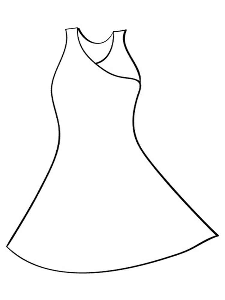 Dress coloring pages. Free Printable Dress coloring pages.