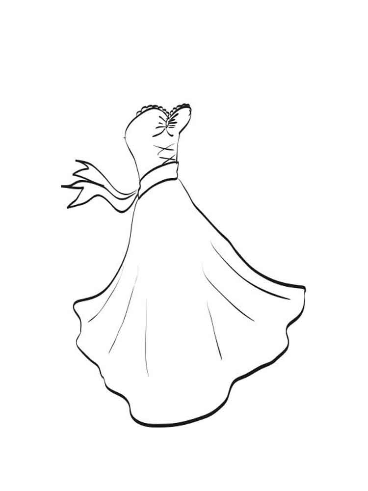 Dress coloring pages Free Printable