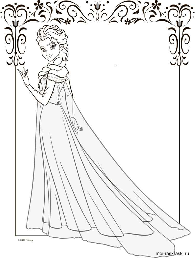Elsa & Anna coloring pages. Download and print Elsa & Anna ...