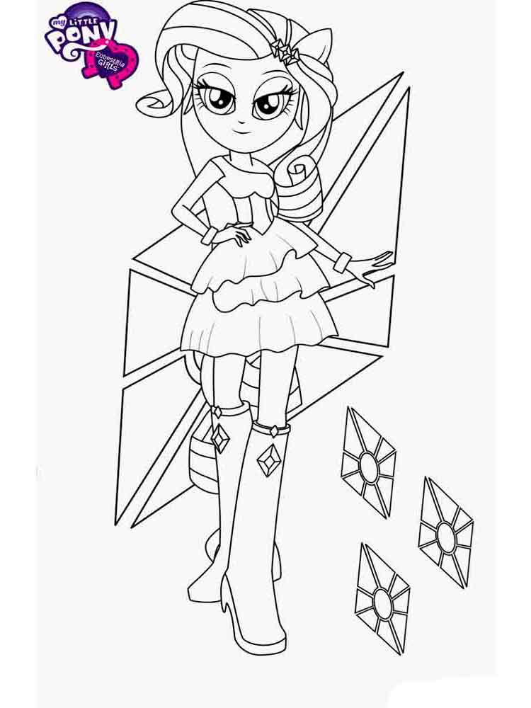 Equestria Girls Coloring Pages. Download And Print Equestria Girls Coloring  Pages.