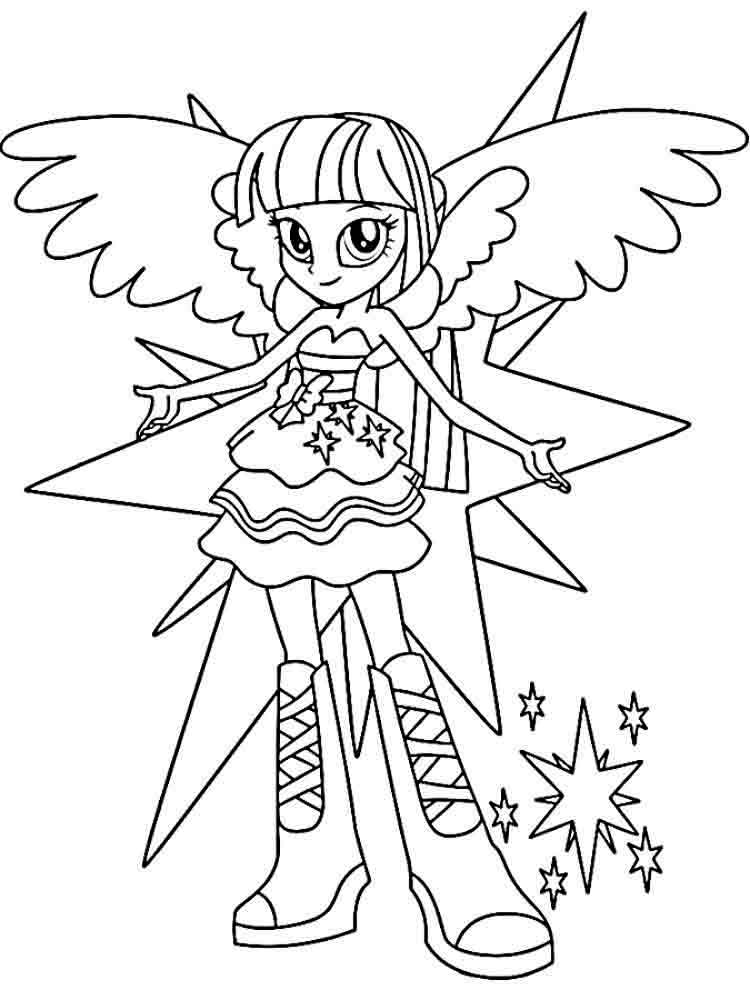 My Little Pony Equestria Girls Coloring Pages 17