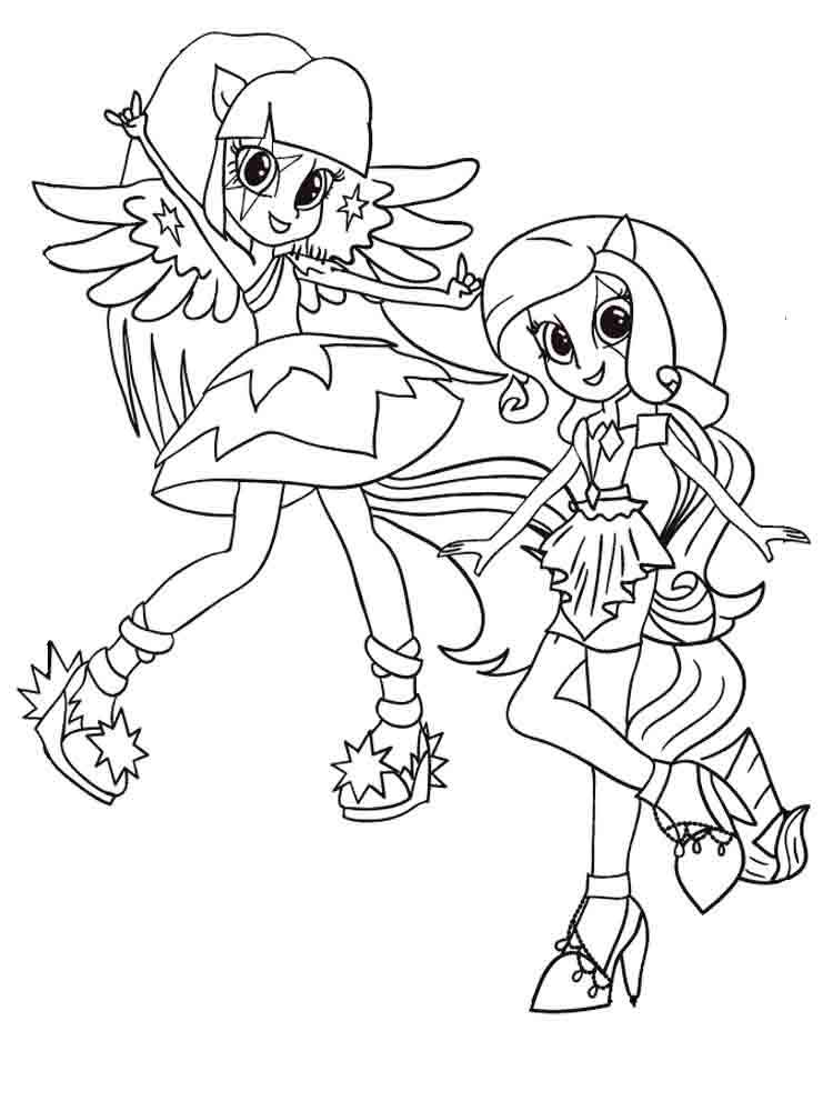 My little pony equestria girl rainbow rocks coloring pages