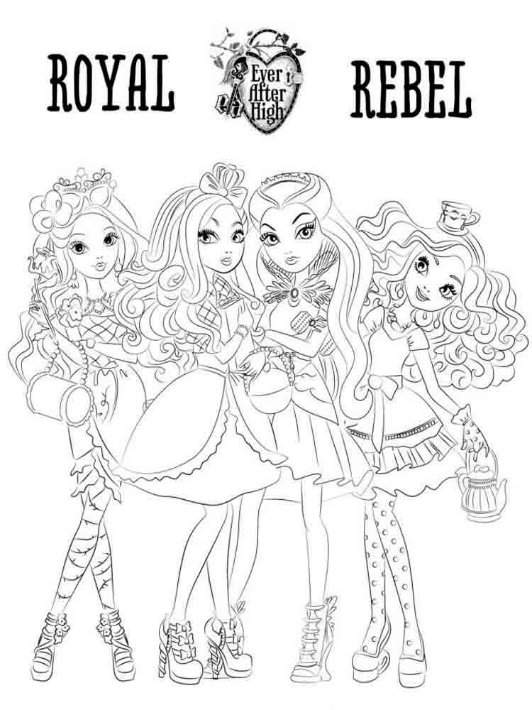 Ever After High Coloring Pages Download And Print Ever After High Coloring Pages