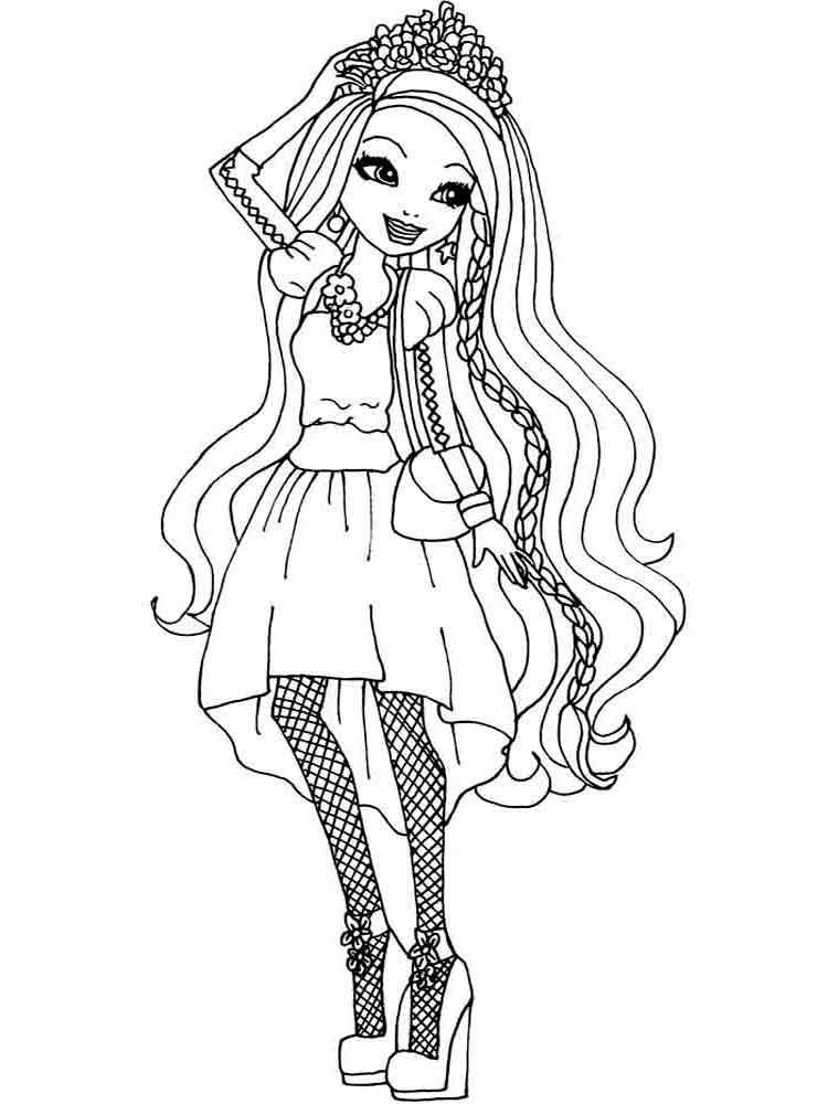 Ever after high coloring pages download and print ever for Ever after coloring pages