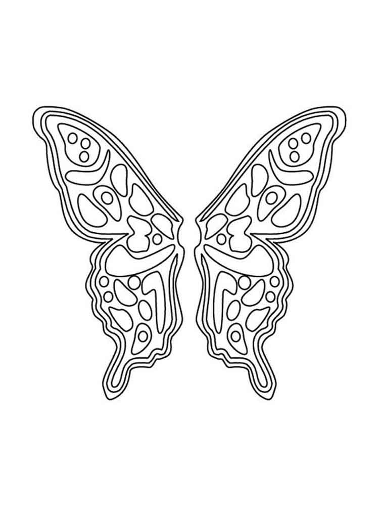 Fairy Wings coloring pages. Free Printable Fairy Wings ...