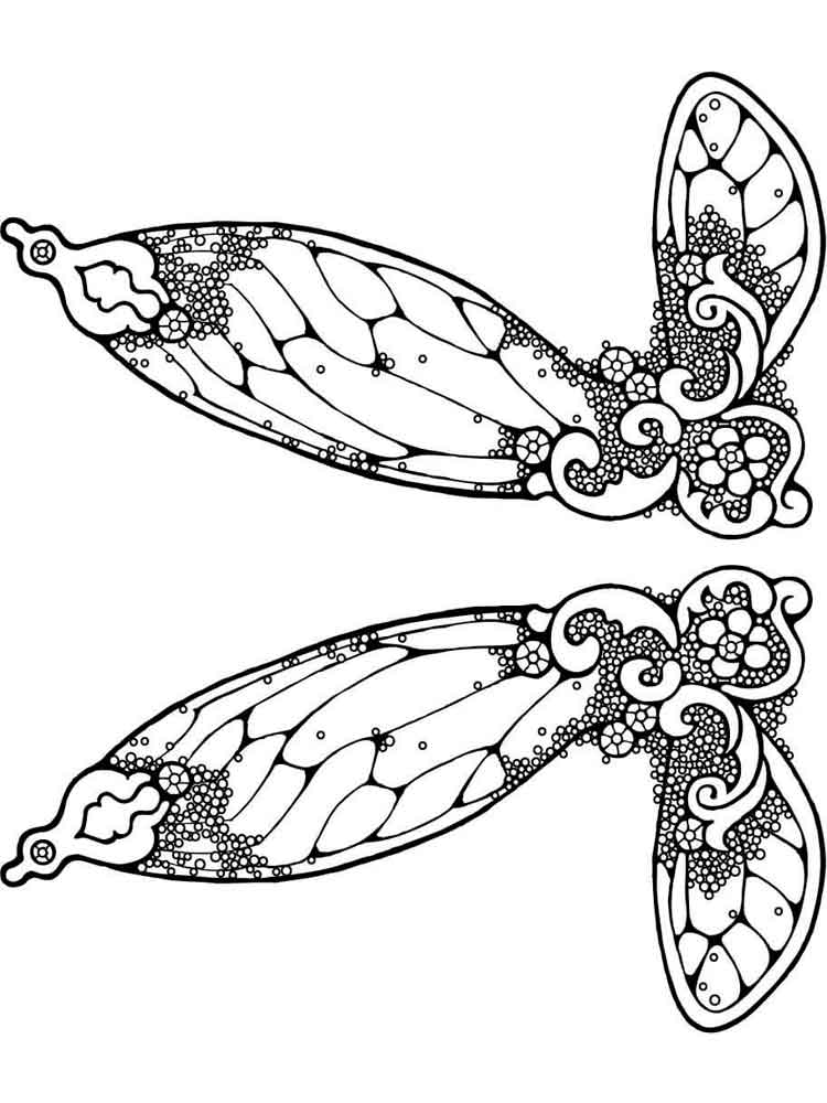 Fairy Wings coloring pages Free