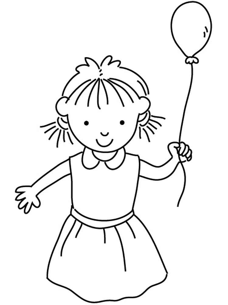 Happy Girl coloring pages. Free Printable Happy Girl ...