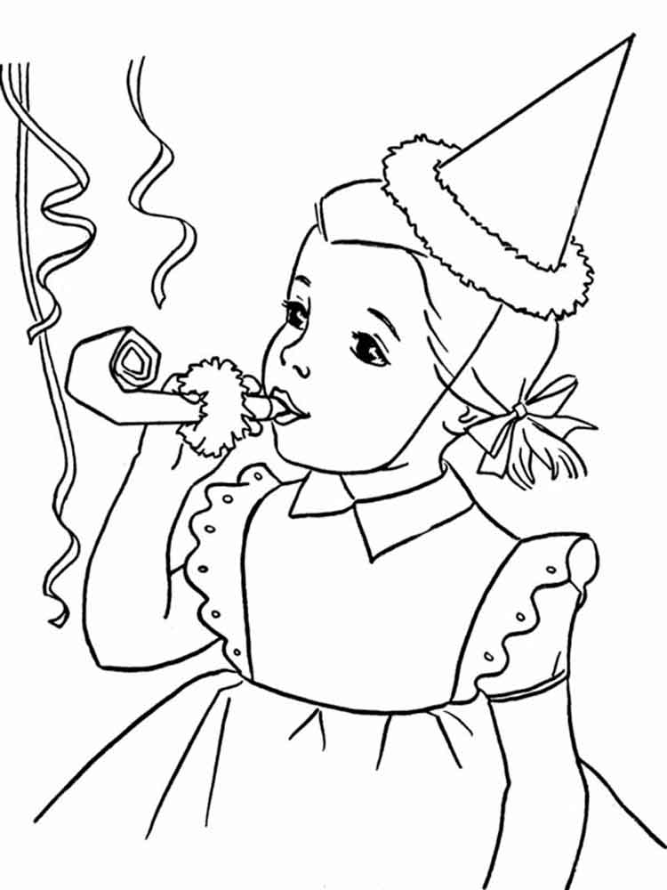 Happy Girl coloring pages. Free Printable Happy Girl coloring pages.