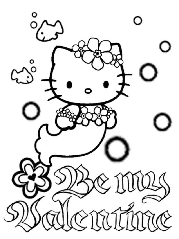 hello kitty mermaid coloring pages 1 - Coloring Pages Kitty Mermaid