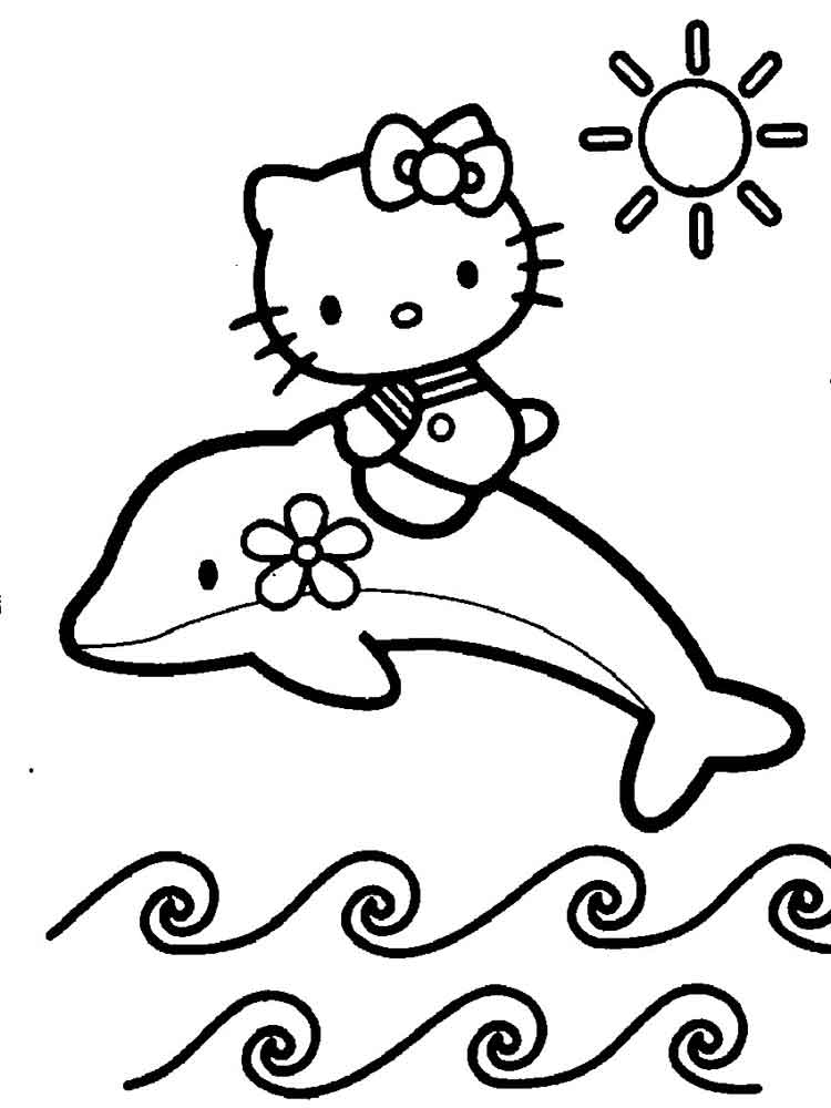 hello kitty mermaid coloring pages 3 - Coloring Pages Kitty Mermaid