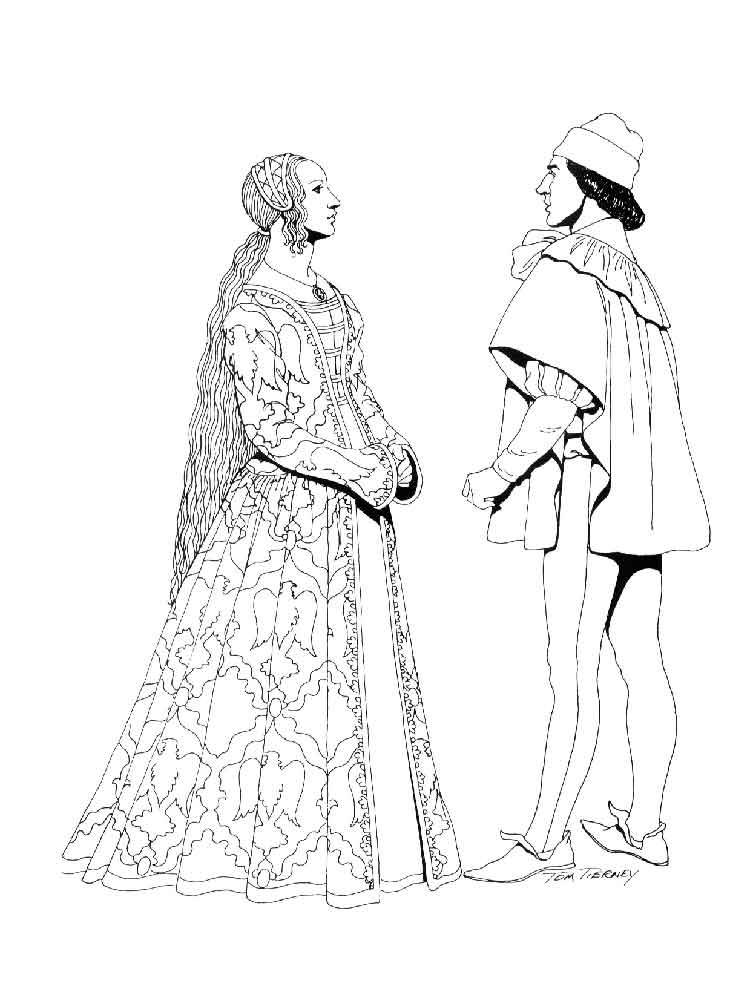 historical fashion coloring pages 1