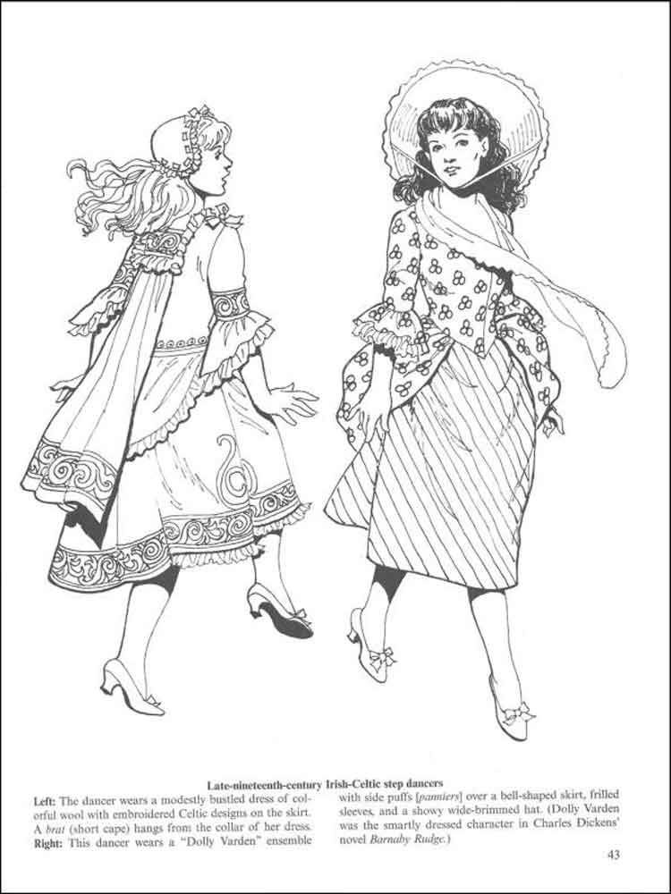 Historical Fashion coloring pages Free Printable Historical
