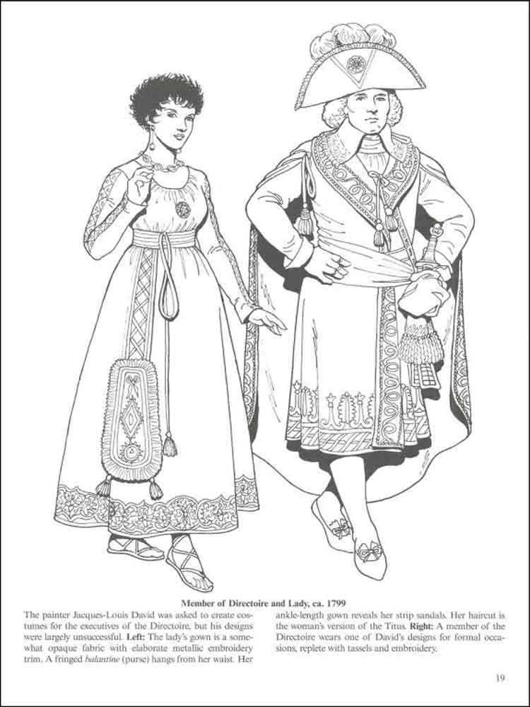 historical fashion coloring pages 13 - Fashion Coloring Pages