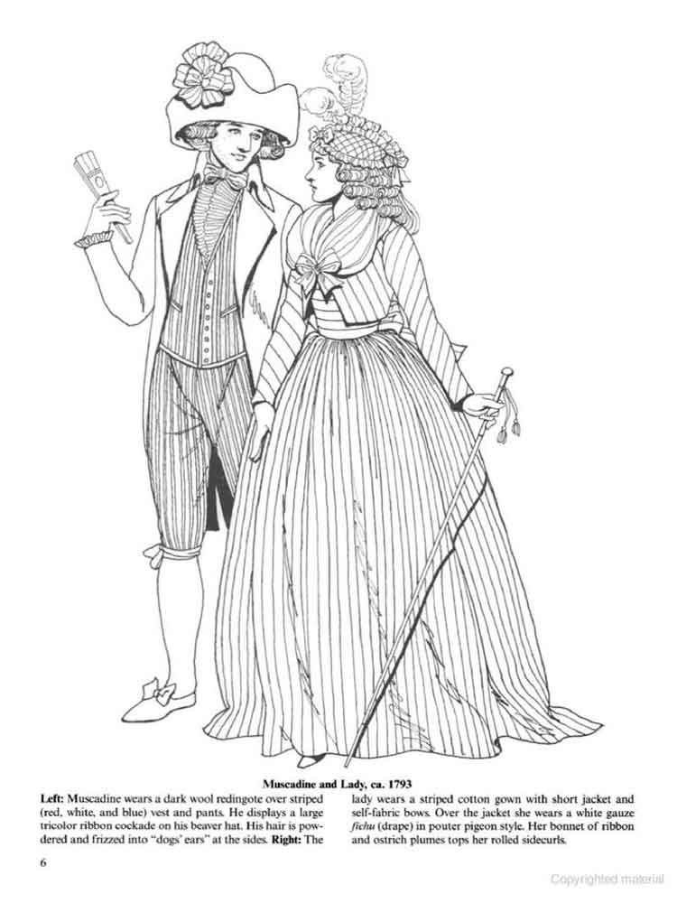 Historical Fashion Coloring Pages 15