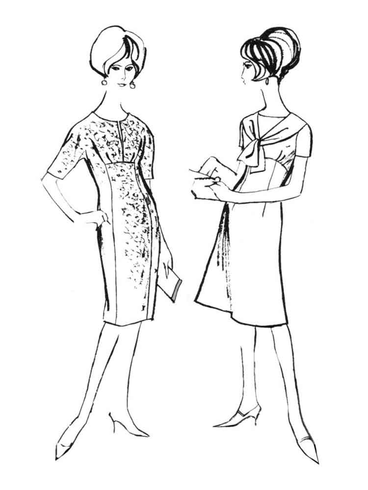 Historical fashion coloring pages free printable for Fashion coloring pages