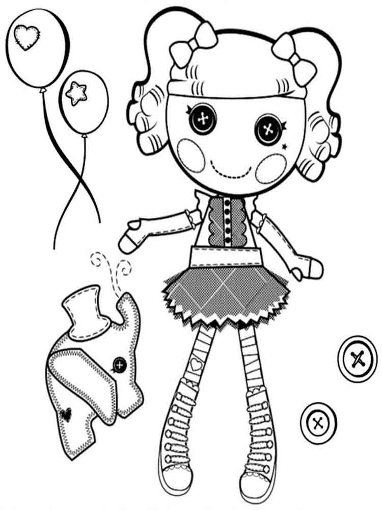 Lalaloopsy coloring pages download and print lalaloopsy for Free printable lalaloopsy coloring pages