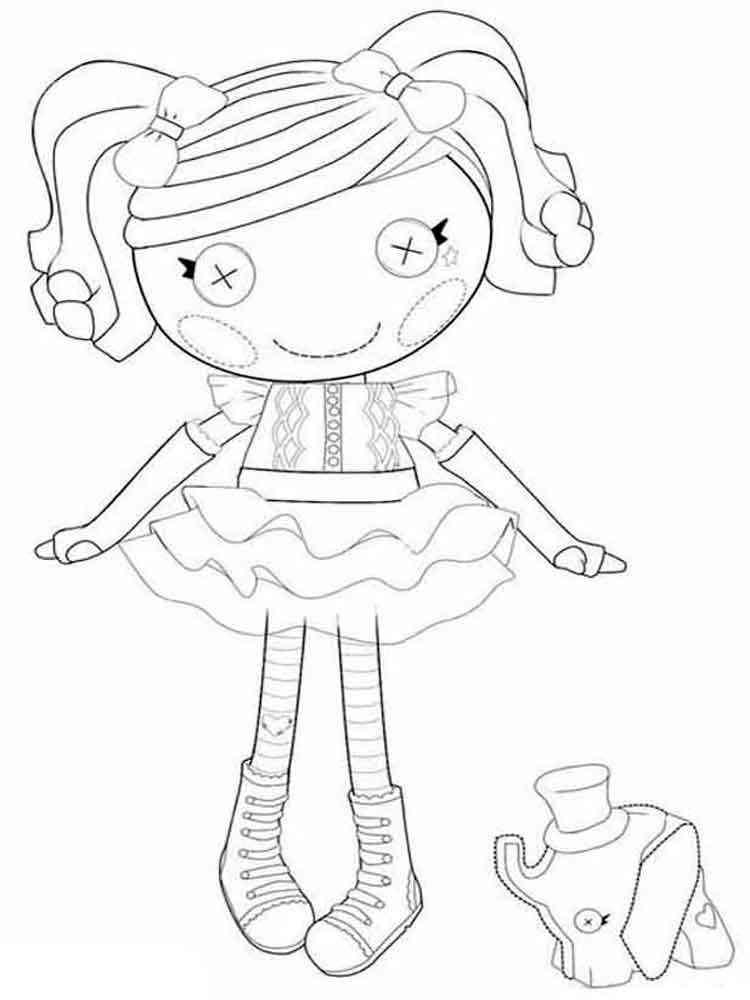 Lalaloopsy Coloring Pages - Free Printables - MomJunction | 1000x750