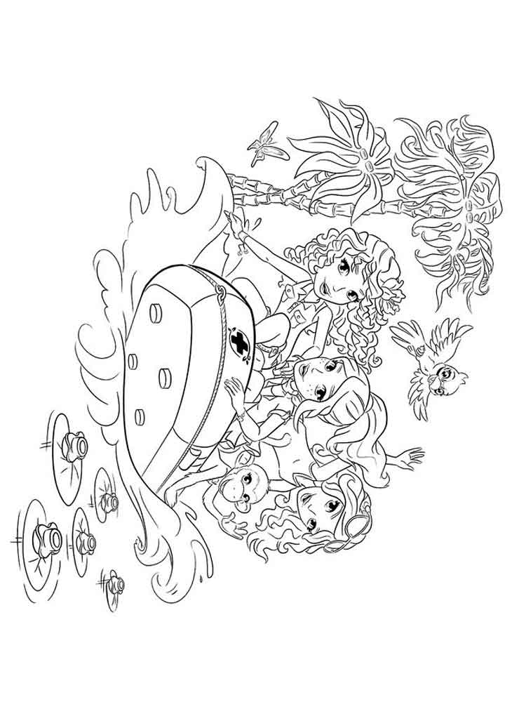 Lego Friends coloring pages Free Printable Lego Friends coloring