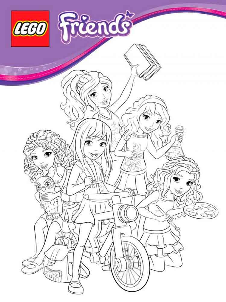 Lego Friends Coloring Pages 4