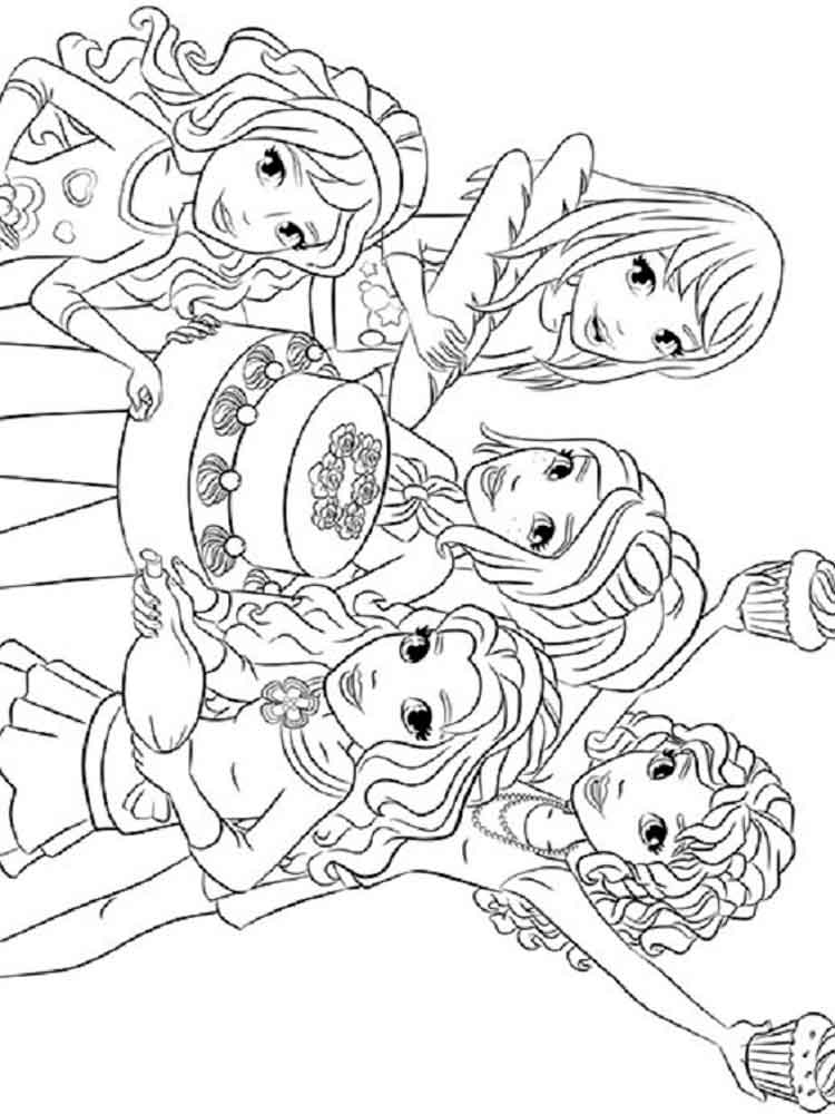 lego friends coloring pages to print 28 images printable