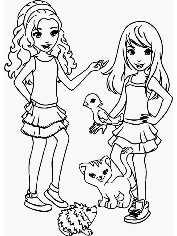 Lego Friends Coloring Pages Free Printable Lego Friends