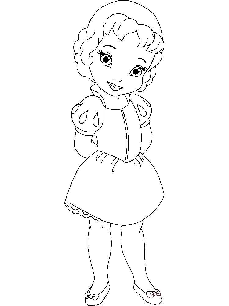 Little princess coloring pages free printable little for Little princess coloring pages
