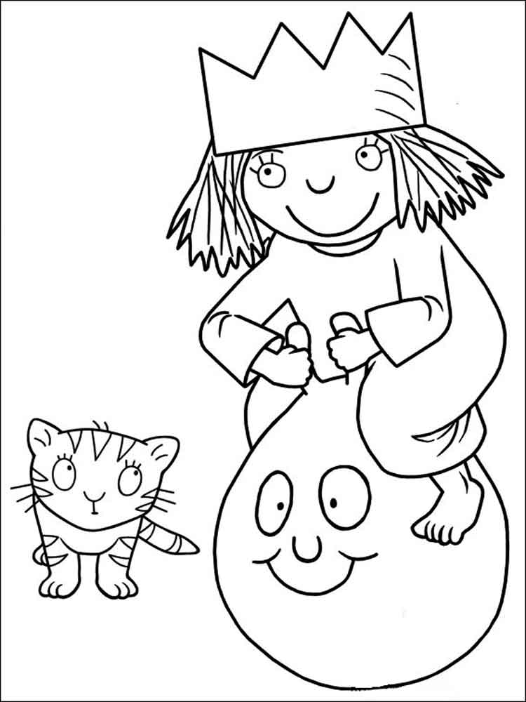 Little Princess coloring pages. Free Printable Little ...