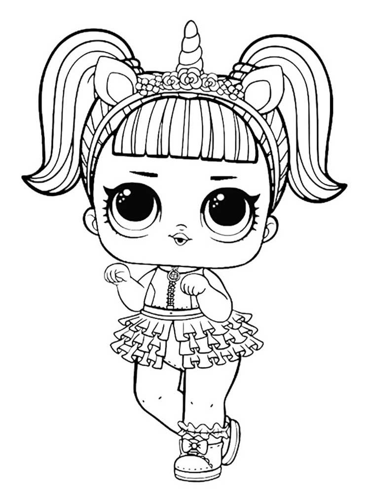 Lol Dolls Coloring Pages Free Printable Lol Dolls