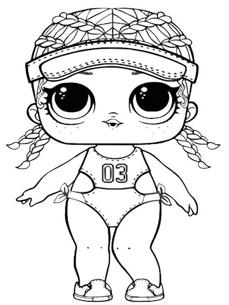 LOL dolls coloring pages. Free Printable LOL dolls ...