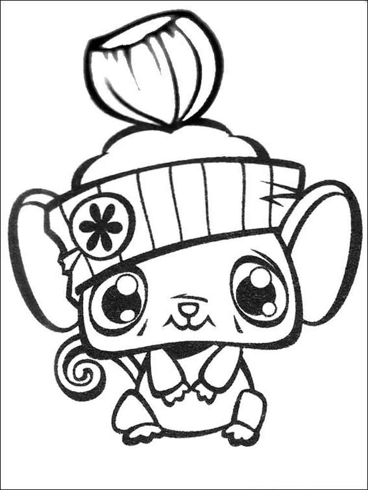 Free Littlest Pet Shop Color Pages, Download Free Clip Art, Free ... | 1000x750