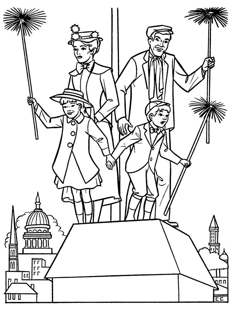 Mary Poppins Coloring Pages 12