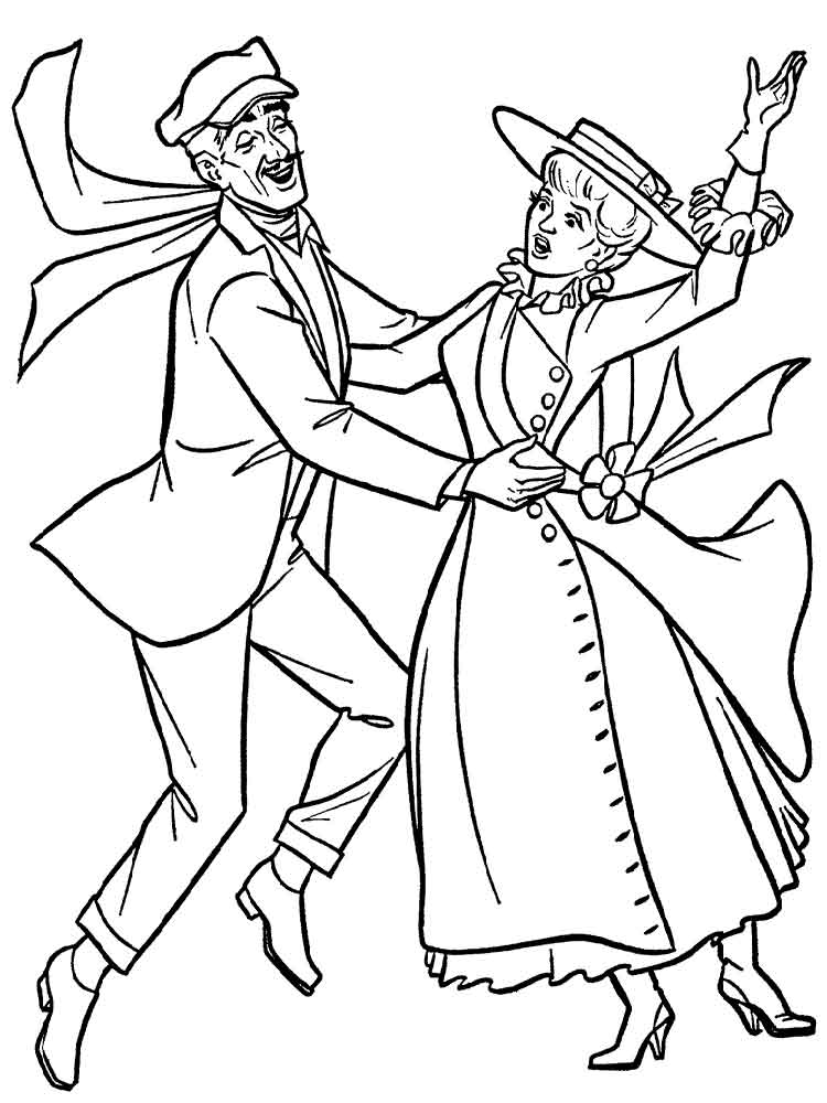 Mary Poppins coloring pages Free