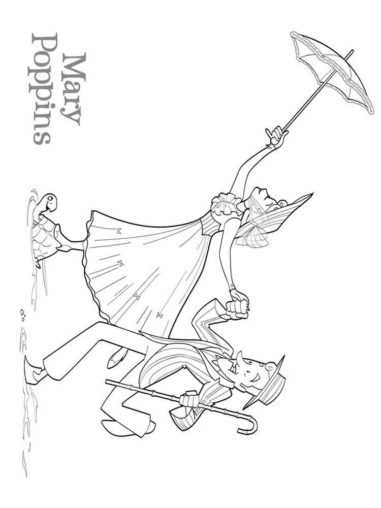 Mary poppins coloring pages