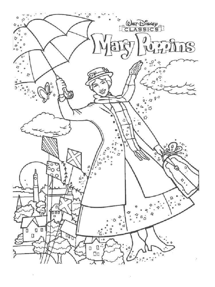 Kleurplaat Mickey Mouse Baby Mary Poppins Coloring Pages Free Printable Mary Poppins