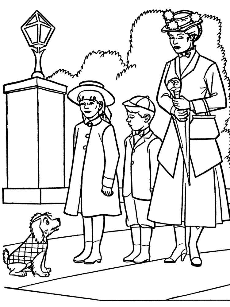 Mary Poppins coloring pages. Free Printable Mary Poppins ...