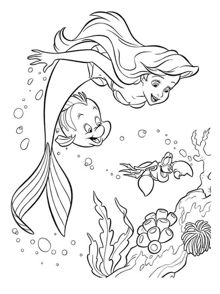 The Little Mermaid coloring pages. Download and print The ...