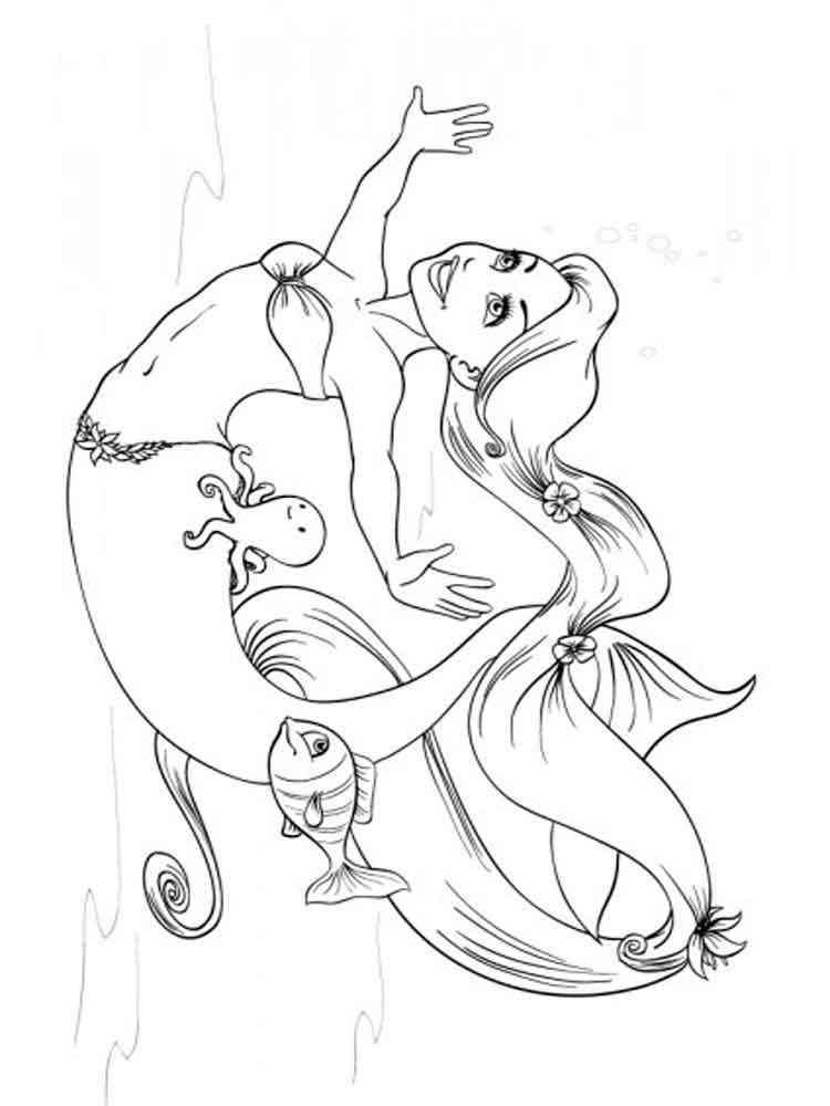 Mermaid coloring pages. Free Printable Mermaid coloring pages.