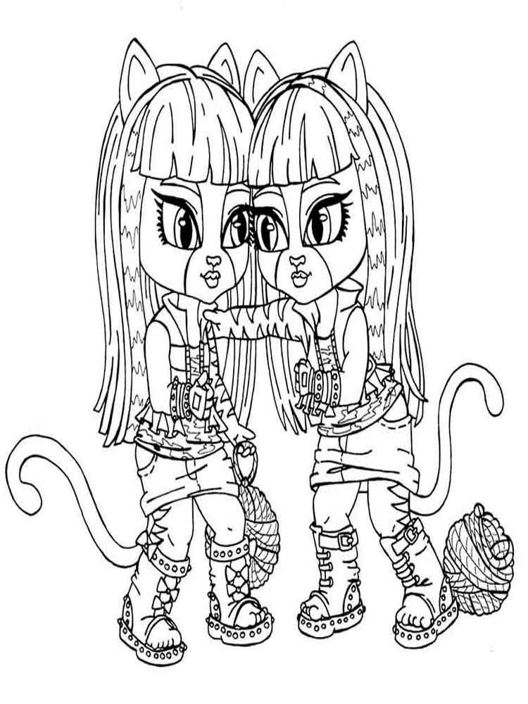 Monster high coloring pages. Download and print Monster high ...