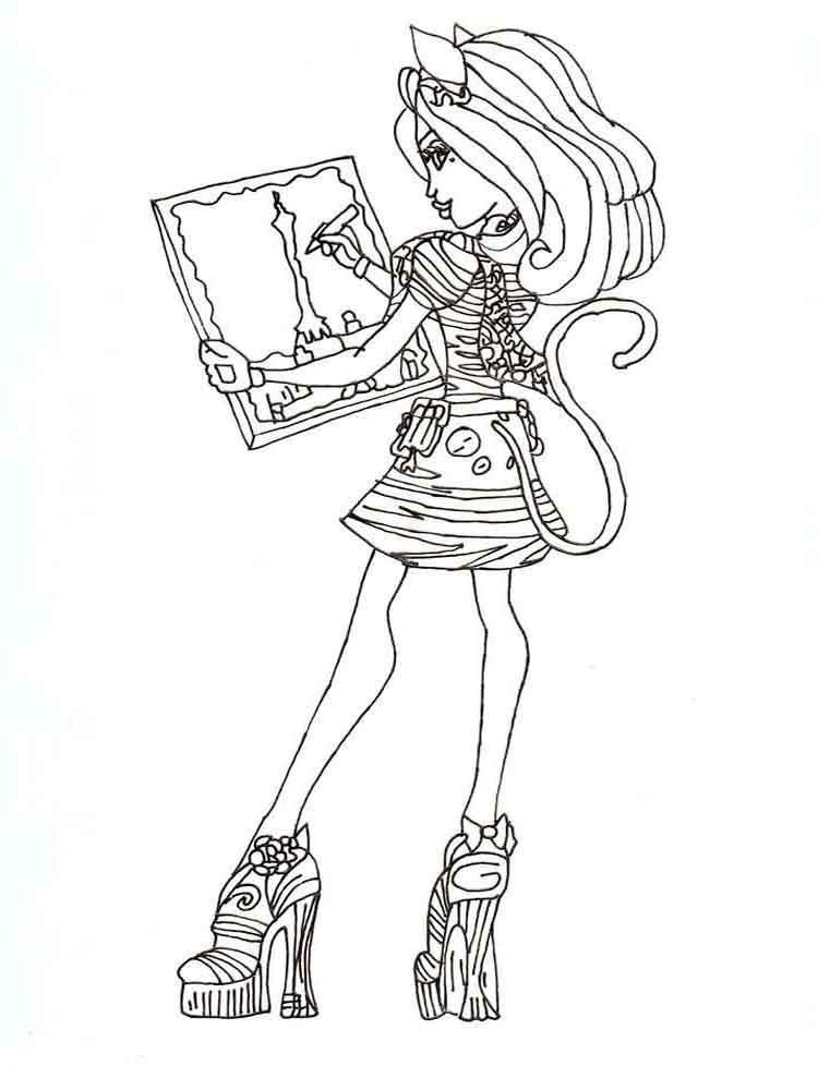 Monster high coloring pages Download