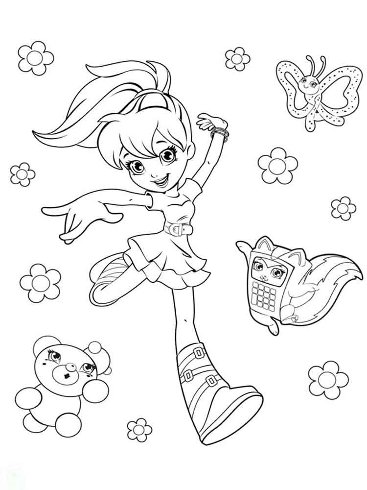 Polly Pocket coloring pages Free Printable Polly Pocket