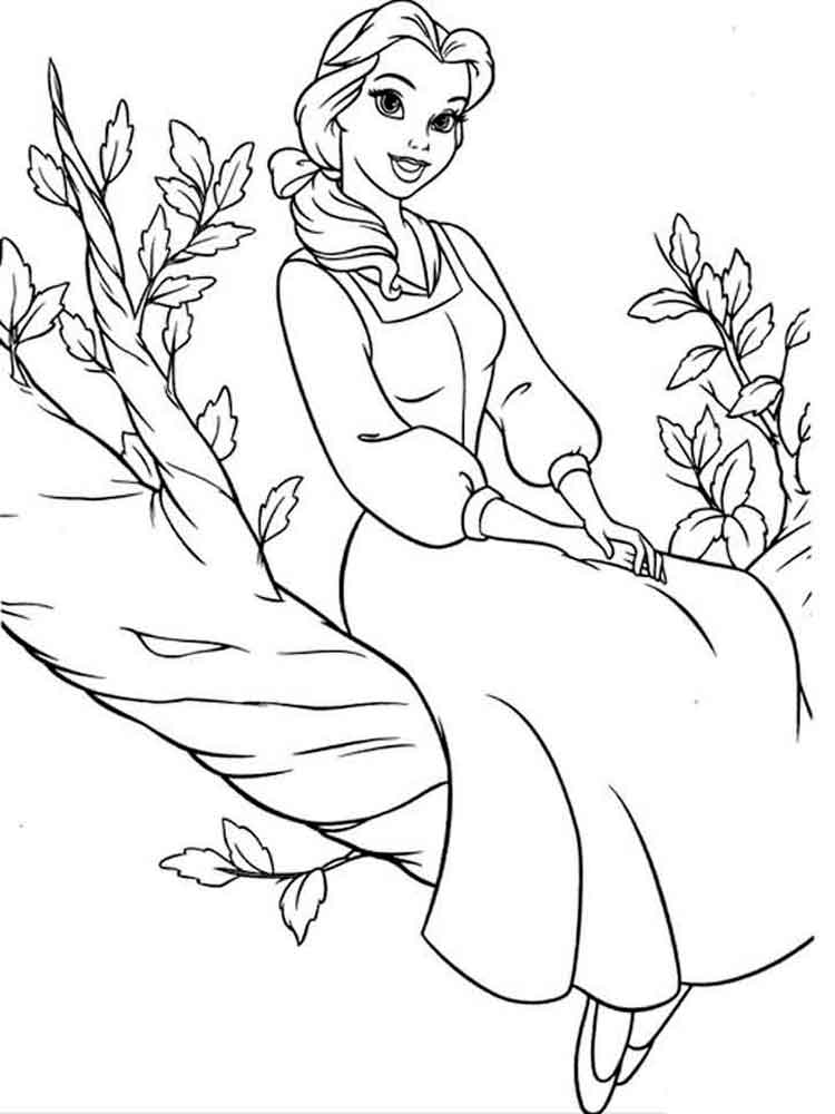 Princess Belle Coloring Pages Free Printable Princess Belle Coloring Pages