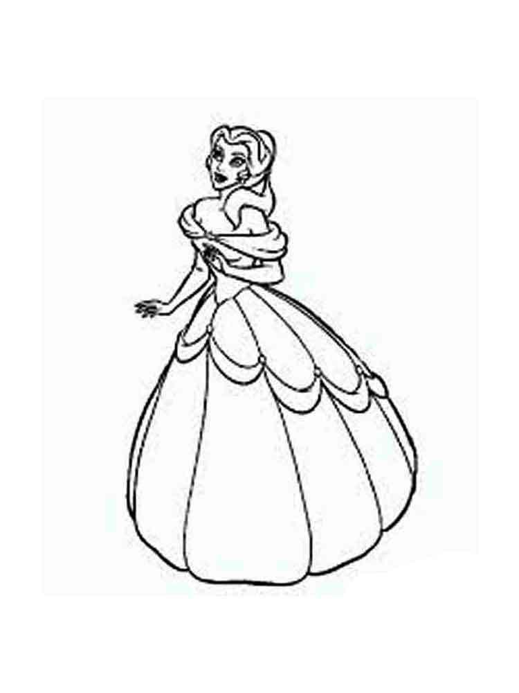 Princess Belle Coloring Pages 18
