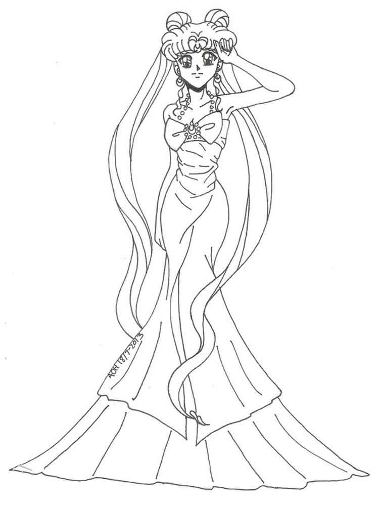 Princess Serenity Coloring Pages : Princess serenity coloring pages free printable bprincess
